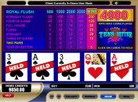 Tens or Better Poker Game