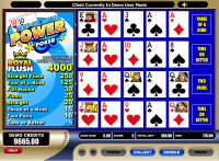 Tens or Better Power Poker Game