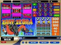 Zany Zebra Slot Machine